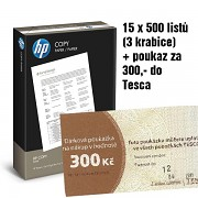 Papír HP COPY 15x500 listů + TESCO 300Kč A4 80g bílá
