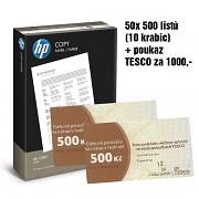 Papír HP Copy 50x500 listů + TESCO 1000Kč A4 80g bílá