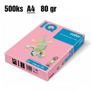 Papír IQ Color barevný A4 80g růžový PI25