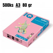 Papír IQ Color barevný A3 80g růžový PI25