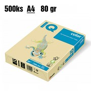 Papír IQ Color barevný A4 80g žlutý YE23