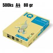Papír IQ Color barevný A4 80g citronově žlutý ZG34