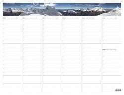 Podložka stolní - kalendář A2