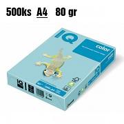 Papír IQ Color barevný A4 80g blankytně modrá MB30