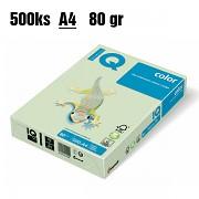 Papír IQ Color barevný A4 80g světle zelená GN27
