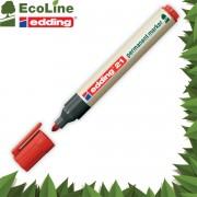 Popisovač perm. Edding EcoLine 21 1,5-3 mm červený