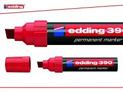 Popisovač perm. Edding 390 klínový hrot 4-12 mm červený