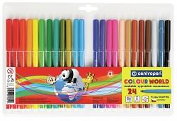 Popisovač Centropen Colour World 7550  1 mm 24-sada