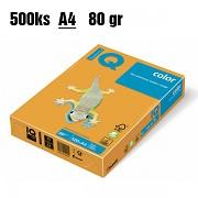 Papír IQ Color barevný A4 80g medová AG10