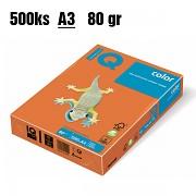Papír IQ Color barevný A3 80g pomerančová OR43