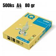 Papír IQ Color barevný A4 80g kanárkově žlutá CY39