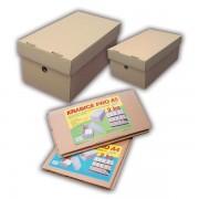 Krabice s víkem Bobo A5 2ks 170x245x150mm hnědé