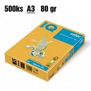 Papír IQ Color barevný A3 80g slunečná SY40