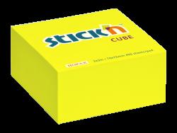 Samolepicí kostka Stick'n 76 x 76mm neon.žlutá