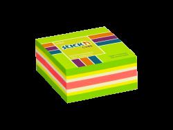 Samolepicí  MINI kostky Stick'n 51 x 51mm zelená mix 250 lístků