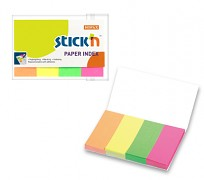 Samolepící papírová záložka Stick'n 50x20mm 4x50 lístků neon. mix