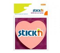Samolepicí bločky Stick'n - výsek srdce 70 x 70mm 50 lístků