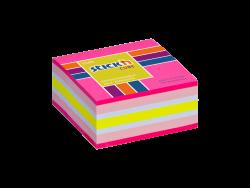 Samolepicí  MINI kostky Stick'n 51x51mm růžová mix 250 lístků