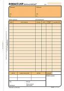 Dodací list - daňový doklad OPTYS A5 NCR OP1077