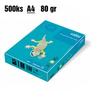 Papír IQ Color barevný A4 80g sytě modrá AB48