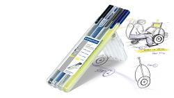 Psací sada STAEDTLER Triplus Multiset sada 4 druhů psacích potřeb