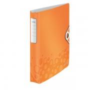 Mobilní kroužkový pořadač Leitz WOW A4 4Dkr. průměru 30mm Metalická oranžová DOPRODEJ!!!