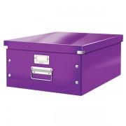 Velká archivační krabice Leitz Click & Store Purpurová