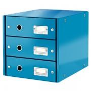 Zásuvkový box Leitz Click & Store se 3 zásuvkami Metalická modrá