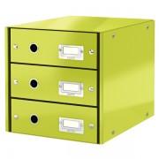 Zásuvkový box Leitz Click & Store se 3 zásuvkami Metalická zelená DOPRODEJ!!!