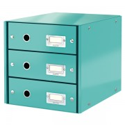 Zásuvkový box Leitz Click & Store se 3 zásuvkami Ledově modrá
