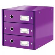 Zásuvkový box Leitz Click & Store se 3 zásuvkami Purpurová
