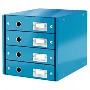 Zásuvkový box Leitz Click & Store se 4 zásuvkami Metalická modrá