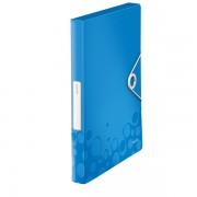 Box na spisy Leitz WOW Metalická modrá