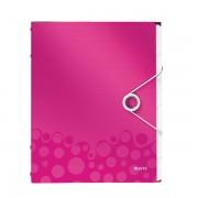 Třídicí kniha Leitz WOW, 6 částí Metalická růžová A4 kapacita 200listů  DOPRODEJ!!!