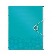 Třídicí kniha Leitz WOW, 6 částí Ledově modrá A4 kapacita 200listů  DOPRODEJ!!!