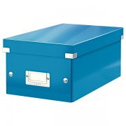 Krabice na DVD Leitz WOW Click & Store Metalická modrá