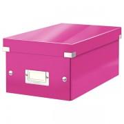 Krabice na DVD Leitz WOW Click & Store Metalická růžová