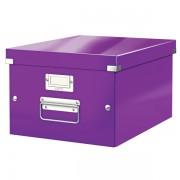 Střední archivační krabice Leitz Click & Store Purpurová