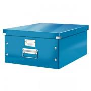 Velká archivační krabice Leitz Click & Store Metalická modrá