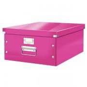 Velká archivační krabice Leitz Click & Store Metalická růžová