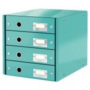Zásuvkový box Leitz Click & Store se 4 zásuvkami Ledově modrá