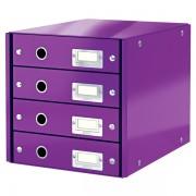 Zásuvkový box Leitz Click & Store se 4 zásuvkami Purpurová