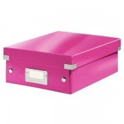 Malá organizační krabice Leitz Click & Store Růžová