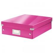 Střední organizační krabice Leitz Click & Store Růžová
