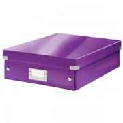 Střední organizační krabice Leitz Click & Store Purpurová