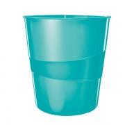 Odpadkový koš Leitz WOW Ledově modrá