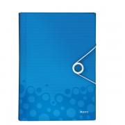 Aktovka na spisy s přihrádkami Leitz WOW Metalická modrá