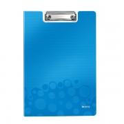 Podložka na psaní se zakrývací deskou Leitz WOW Metalická modrá