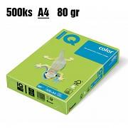 Papír IQ Color barevný A4 80g lípově zelená LG46