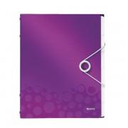 Třídicí kniha Leitz WOW, 6 částí Purpurová A4 kapacita 200listů  DOPRODEJ!!!